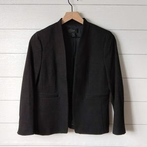 J Crew Collarless 2 Pocket Black Blazer Size 10